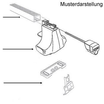 THULE Rapid System WingBar Alu Dachträger Opel Astra K ab ...
